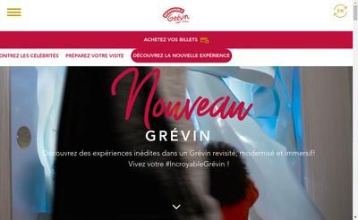 Site internet de Grevin