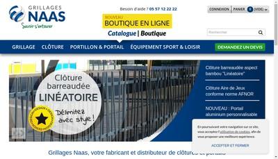Site internet de Societe les Grillages Naas