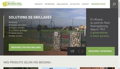 Site internet de Grillages Wunschel