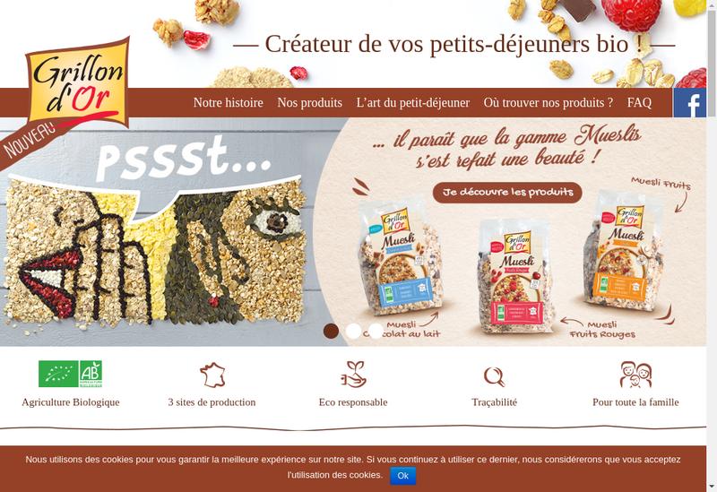 Capture d'écran du site de Cereco