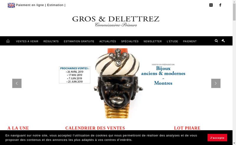 Capture d'écran du site de Charles-Edouard Delettrez SAS