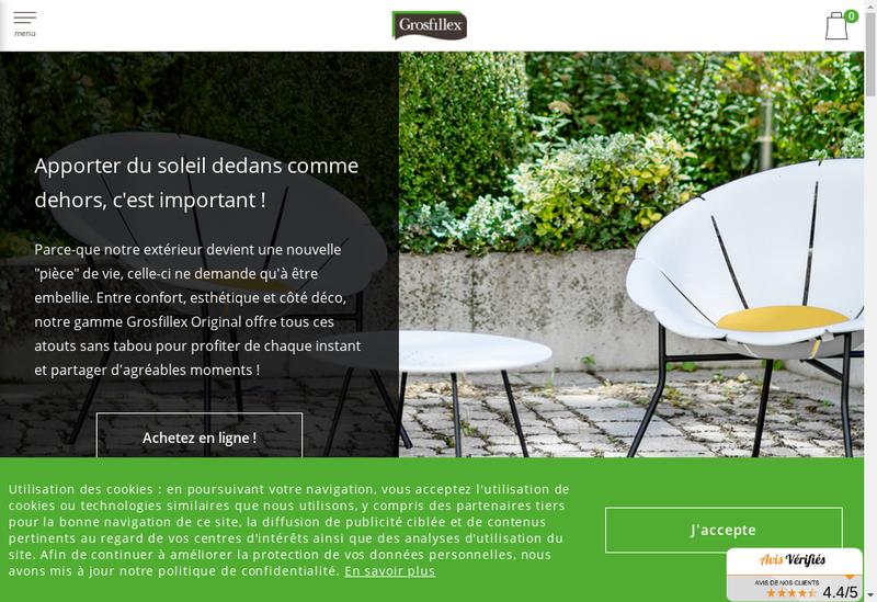 Capture d'écran du site de Pvc Grosfillex Menuiseries-Lambris Gro
