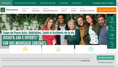 Site internet de Caisse de Reassurance Mutuelle Agricole du Centre Manche