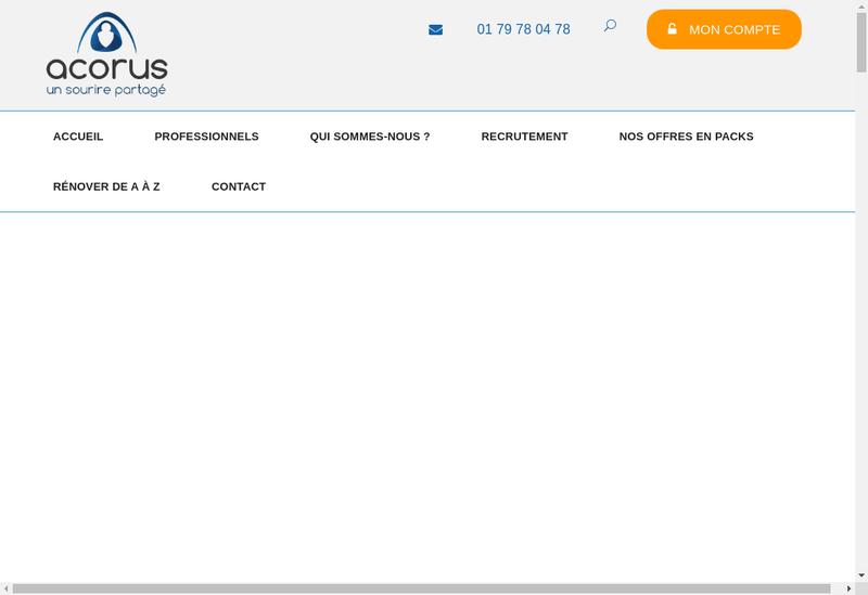 Capture d'écran du site de Acorus