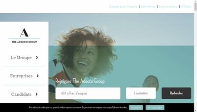 Site internet de Adecco Groupe France