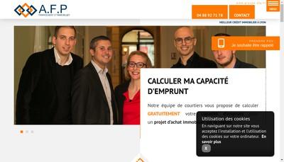 Site internet de Afp Courtage