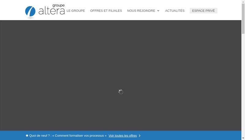 Capture d'écran du site de Altera Conseil