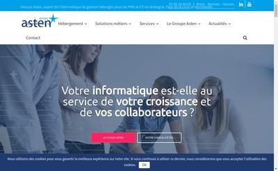 Site internet de Asten Informatique Groupe Asten