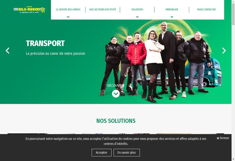 Capture d'écran du site de Bils Deroo Holding