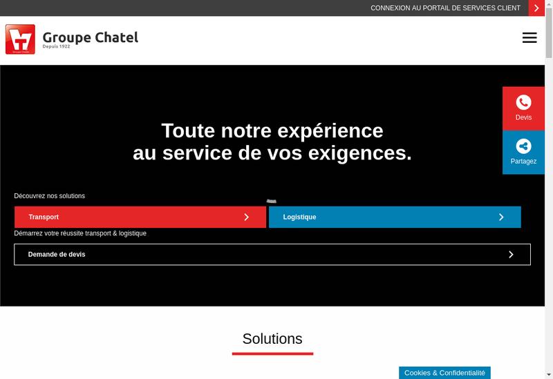 Capture d'écran du site de Groupe Chatel