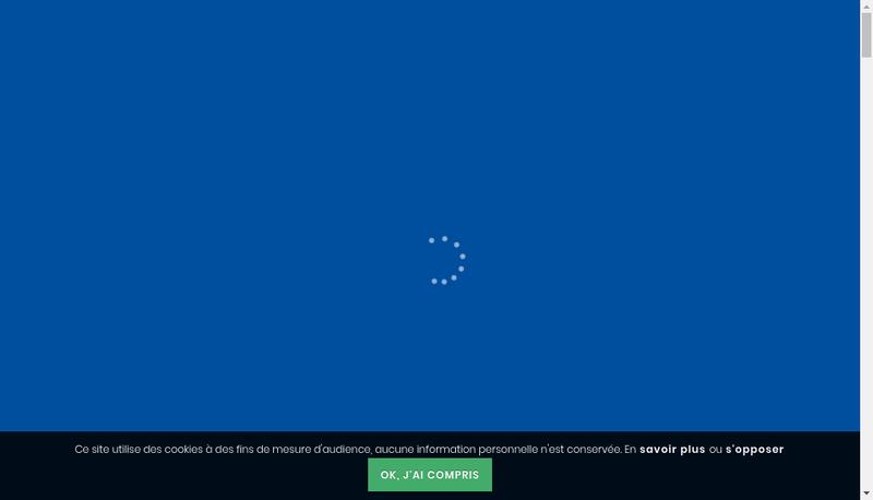 Capture d'écran du site de Entreprise Galopin