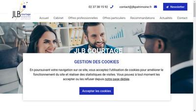 Site internet de Jlb Courtage