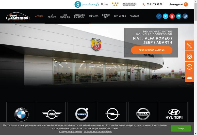 Capture d'écran du site de Carexel