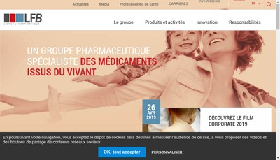 Site internet de Lfb Biomedicaments