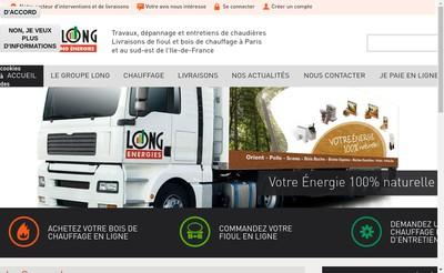 Site internet de Long Chauffage