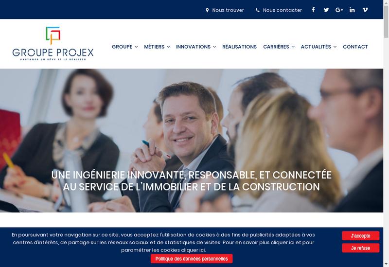 Capture d'écran du site de Probim