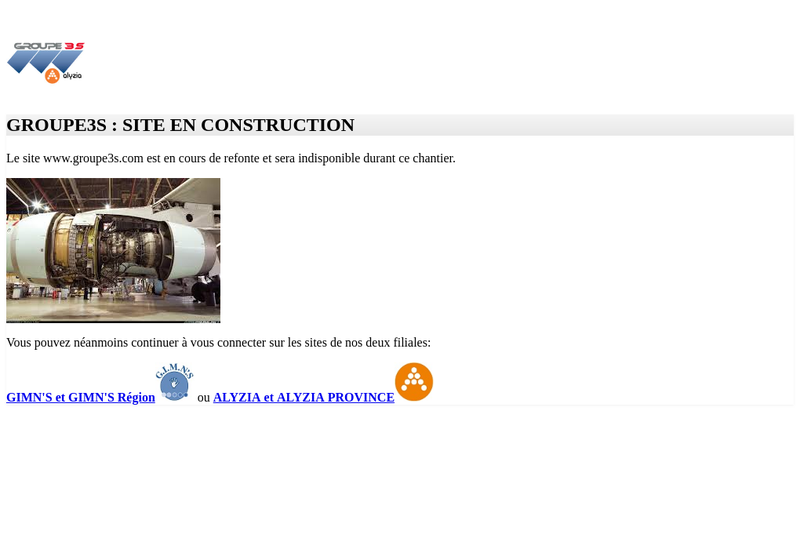 Capture d'écran du site de Alyzia Roissy Check 2