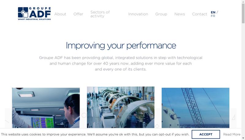 Capture d'écran du site de Technicover