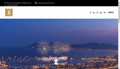 Site internet de Hotels du Groupe Boucau