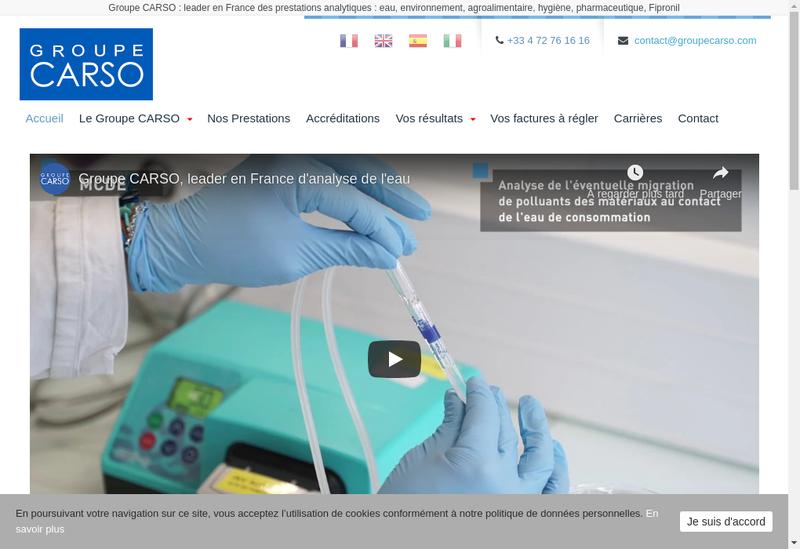 Capture d'écran du site de Groupe Carso