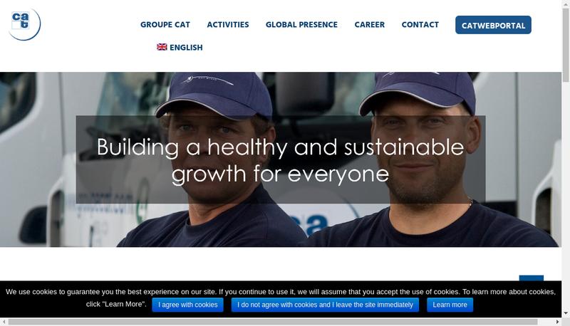 Capture d'écran du site de Groupe Cat