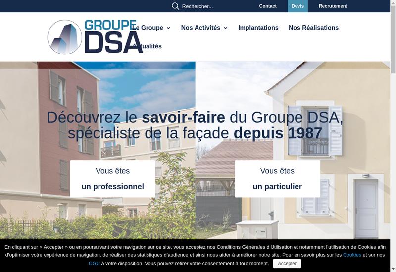 Capture d'écran du site de DSA