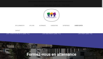 Site internet de Groupe Formation Systemes - Esc Auvergne