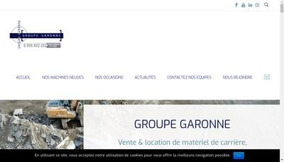 Site internet de Garonne Concassage Criblage