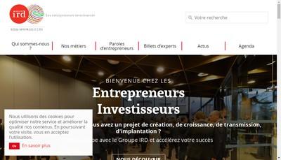 Site internet de Groupe Ird