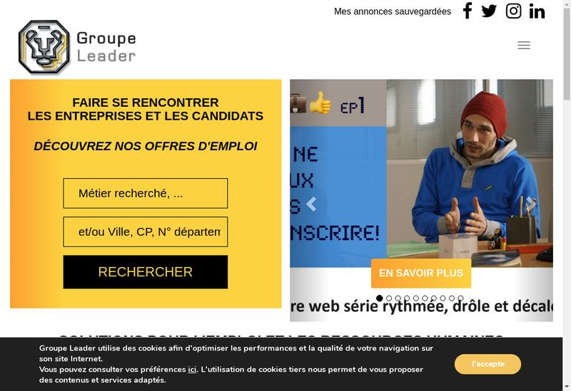 Capture d'écran du site de Leader Gestion