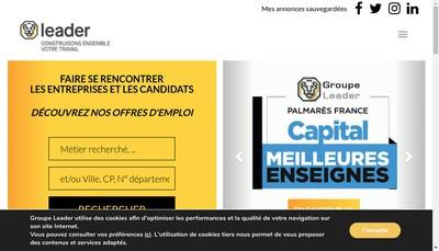 Site internet de Leader Gestion