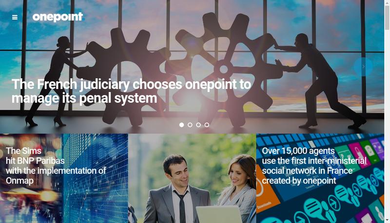 Capture d'écran du site de Onepoint