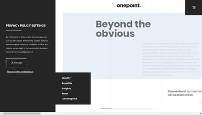 Site internet de Onepoint