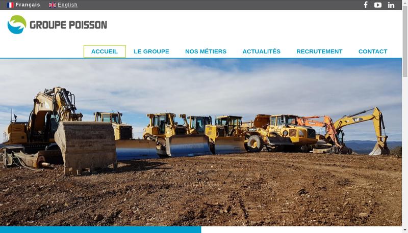 Capture d'écran du site de SA Morel