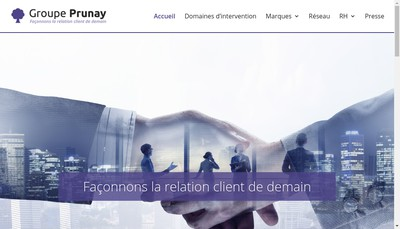 Site internet de Groupe Prunay