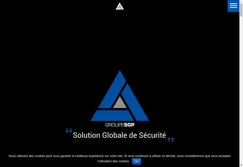 Capture d'écran du site de Groupe Sgp