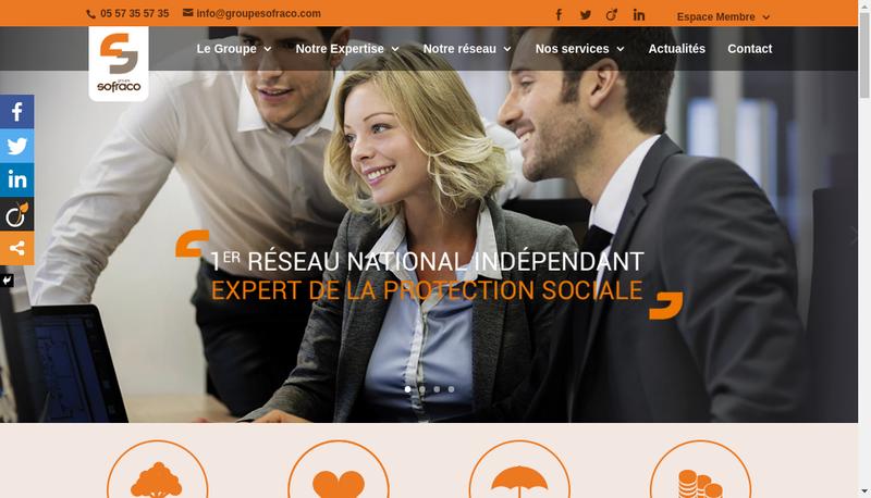 Capture d'écran du site de Sofraco Bordeaux