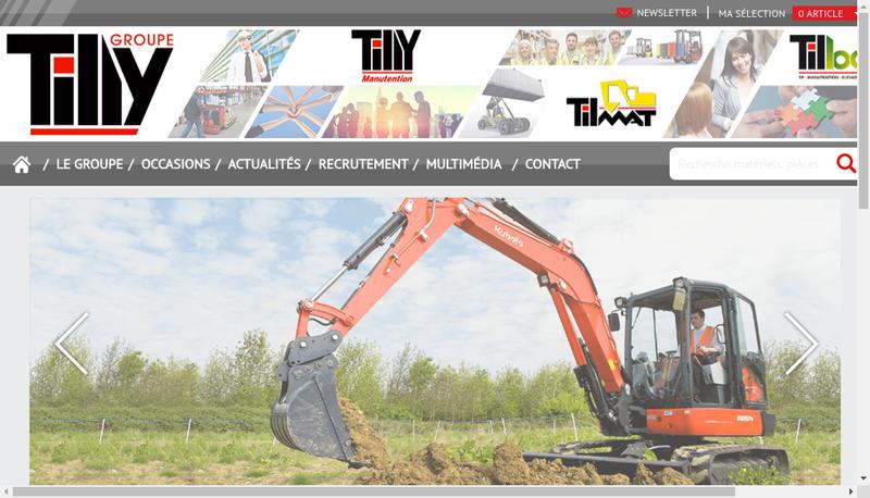 Capture d'écran du site de Tilly Manutention