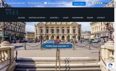 Site internet de Groupe VMH