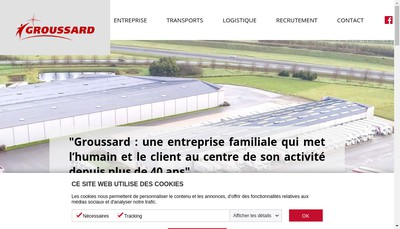 Site internet de Transports Groussard SA