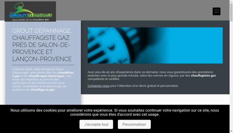 Capture d'écran du site de SARL Grout Depannage