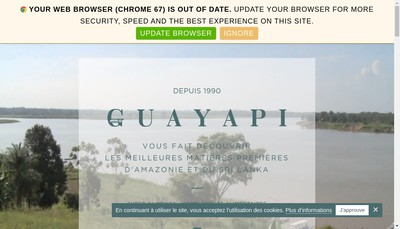 Site internet de Guayapi Tropical
