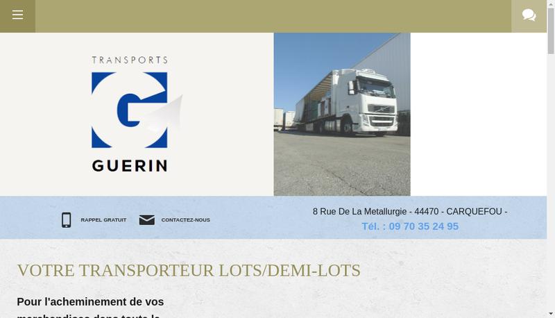 Capture d'écran du site de Etablissements Guerin Marcel et Fils