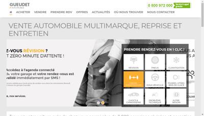 Capture d'écran du site de Automotive Parts And Services Group