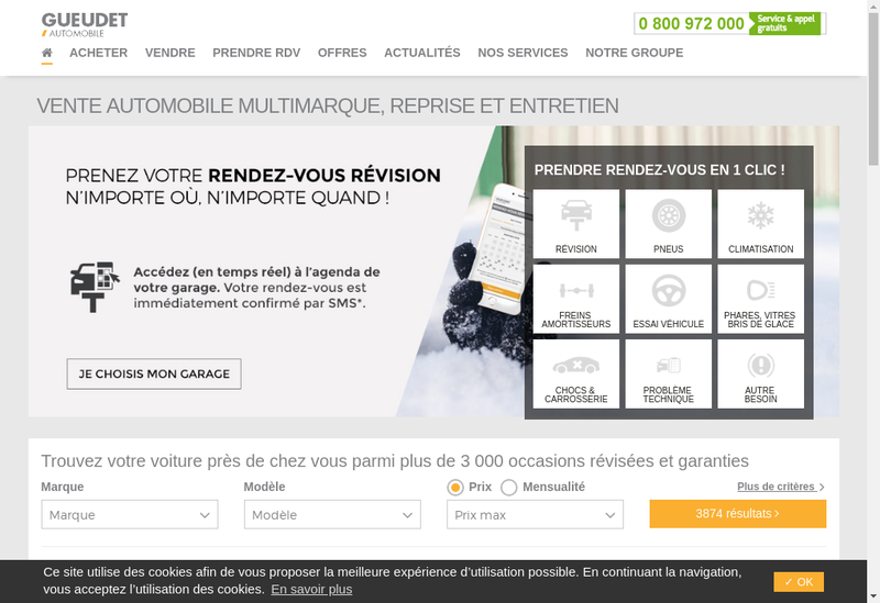Capture d'écran du site de Sagas Automobile