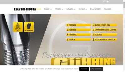 Capture d'écran du site de Guhring France