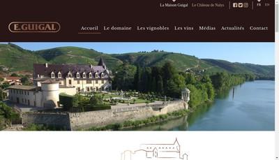 Site internet de Domaine Guigal et Fils