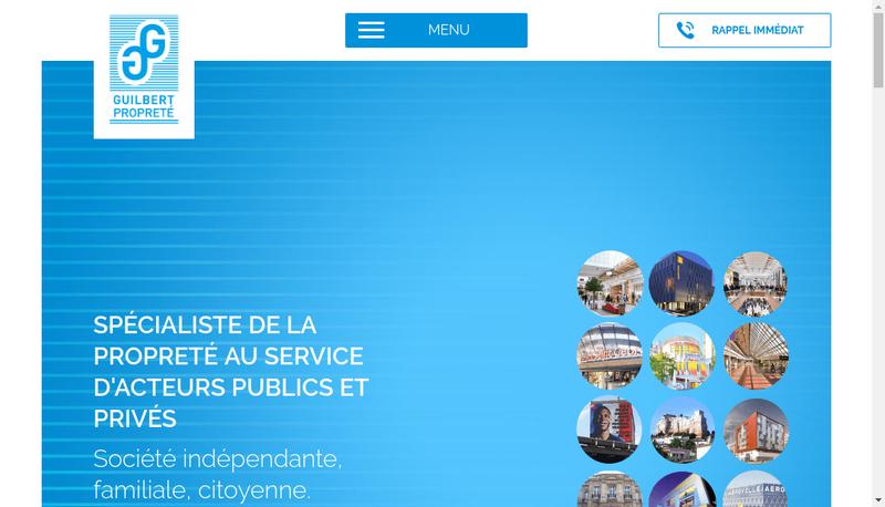 Capture d'écran du site de Guilbert Proprete