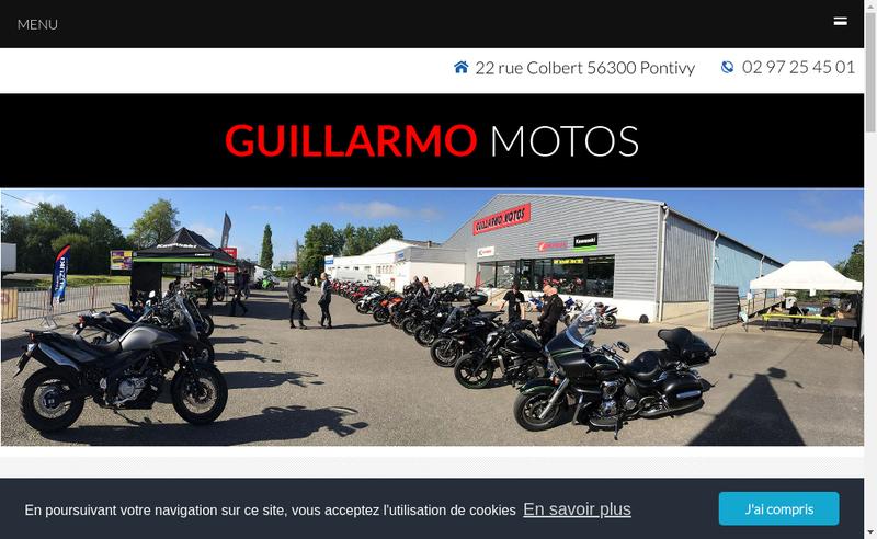 Capture d'écran du site de Guillarmo Motos