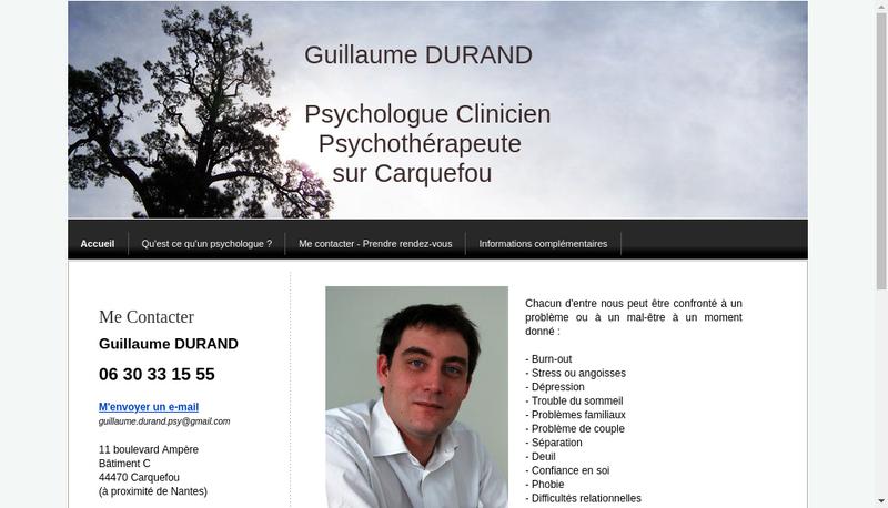 Capture d'écran du site de Guillaume Durand